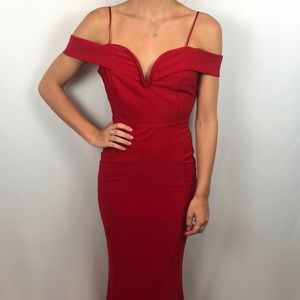 Miss Kim red prom dress